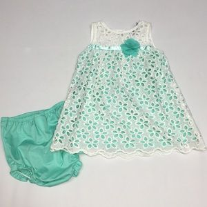 Rare Editions Easter Dress 12 Months